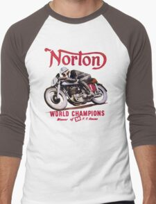 NORTON MOTORCYCLE VINTAGE ART Men's Baseball ¾ T-Shirt