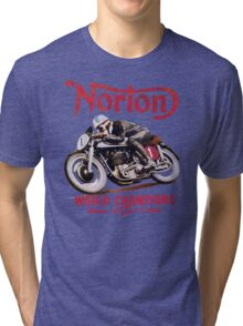 NORTON MOTORCYCLE VINTAGE ART Tri-blend T-Shirt