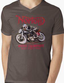 NORTON MOTORCYCLE VINTAGE ART Mens V-Neck T-Shirt
