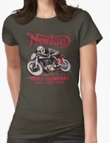 NORTON MOTORCYCLE VINTAGE ART Womens Fitted T-Shirt
