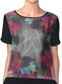 Flowers And Lace Chiffon Top