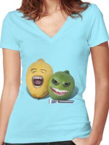 Beware the Lemon Zester Women's Fitted V-Neck T-Shirt