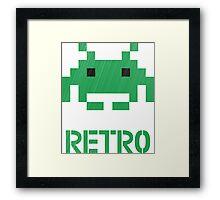 Retro - Invader Textured Framed Print