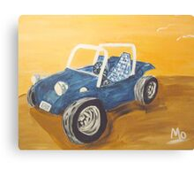 blue dune buggy Canvas Print