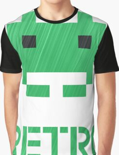 Retro - Invader Textured Graphic T-Shirt