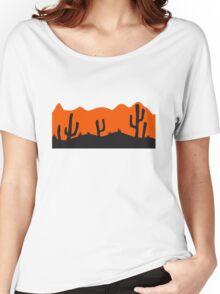 desert evening night sunset sunrise kakten cactus hot hot Women's Relaxed Fit T-Shirt