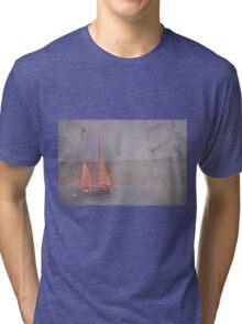 Sailing the Channel Tri-blend T-Shirt