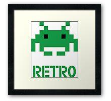 Retro - Invader Framed Print