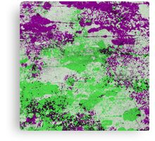 Purple Meets Green - Abstract Painting Canvas Print