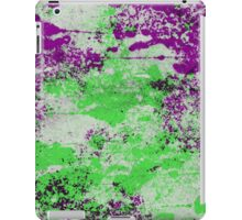 Purple Meets Green - Abstract Painting iPad Case/Skin