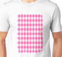 Pink Roses in Anzures 1 Gingham 2 Unisex T-Shirt