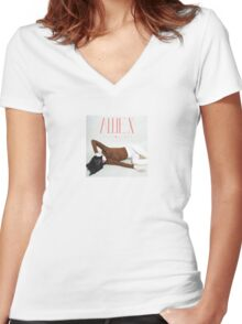 Allie X 'Collxtion I' Album Cover Women's Fitted V-Neck T-Shirt