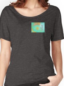 Serenity Prayer Peonies Yellow Green Women's Relaxed Fit T-Shirt