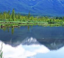 Vermillion Lakes Reflection Sticker