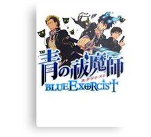 blue exorcist full team  Metal Print