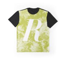 'R' Letter, Vintage Literary Print Graphic T-Shirt