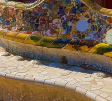 Gaudi's Park Guell Sinuous Curves - Impressions Of Barcelona Sticker