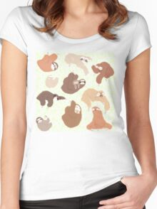 Sloth-mania Women's Fitted Scoop T-Shirt