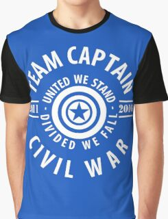 TEAM CAPTAIN - FIRST MOVIE TO CIVIL WAR Graphic T-Shirt