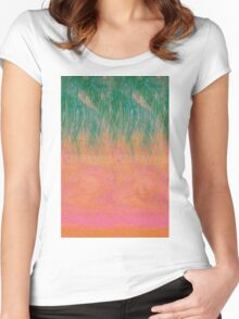 chillwave sunset Women's Fitted Scoop T-Shirt