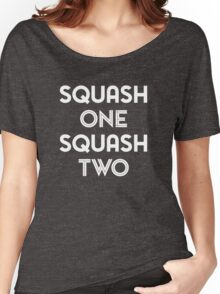 Squash One (white print) Women's Relaxed Fit T-Shirt