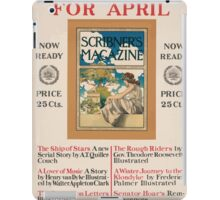 Artist Posters Scribner's for April Now ready price 25 cts 0909 iPad Case/Skin