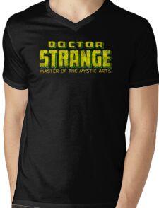 Doctor Strange - Classic Title - Dirty Mens V-Neck T-Shirt
