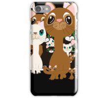 Herd of cats in black iPhone Case/Skin