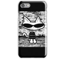 90's Cat In Black and White iPhone Case/Skin