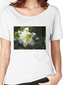 Divine Glow - Illuminated Pure White Easter Lily Women's Relaxed Fit T-Shirt