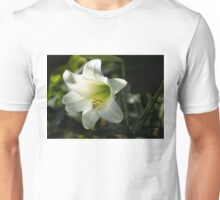 Divine Glow - Illuminated Pure White Easter Lily Unisex T-Shirt