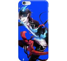 rin with his demon sword artistic style anime design iPhone Case/Skin