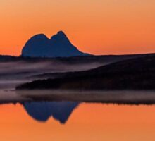 Suilven Reflections at Dusk Sticker