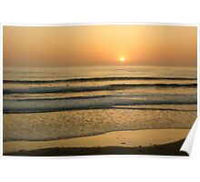 Golden California Sunset - Pacific Beach, San Diego Poster