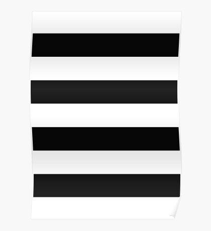 Black and White Stripes Poster