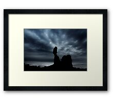 Moonrise Over Balanced Rock .3 Framed Print