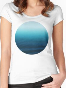 Deep Blue Women's Fitted Scoop T-Shirt