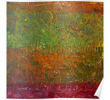 Abstract Landscape Series - Fallen Leaves Poster
