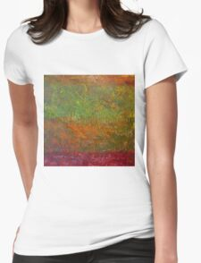 Abstract Landscape Series - Fallen Leaves Womens Fitted T-Shirt