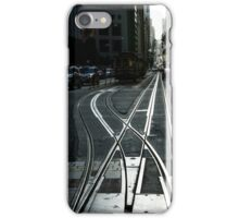 San Francisco Silver Cable Car Tracks iPhone Case/Skin