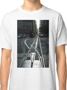 San Francisco Silver Cable Car Tracks Classic T-Shirt