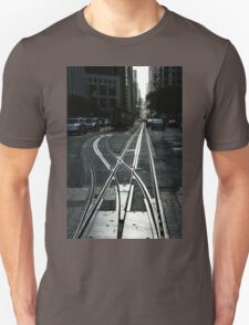 San Francisco Silver Cable Car Tracks Unisex T-Shirt