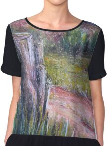 Fence Post in Flinders Ranges  Chiffon Top