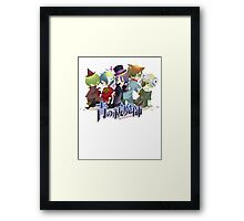 the whole team blue exorcist  Framed Print