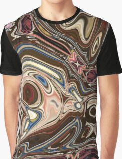 trendy hipster marble swirls chocolate brown tan swirls Graphic T-Shirt