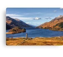 Glenfinnan Memorial and Loch Shiel Canvas Print