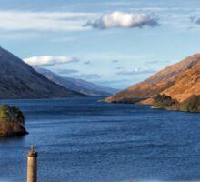 Glenfinnan Memorial and Loch Shiel Sticker