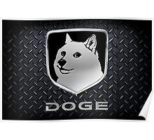 """Dodge Ram """"DOGE"""" Logo Poster"""