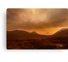 Stac Polly a Winters' Sunset Canvas Print
