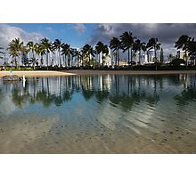 Palm Trees, Crystal Clear Lagoon Water and Tropical Fish Photographic Print